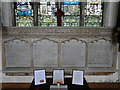 TF8208 : WW1 Memorial to 90 men in Swaffham church by Adrian S Pye
