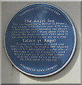 SO5012 : Angel Inn bilingual blue plaque, St Mary Street, Monmouth by Jaggery