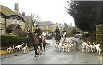 ST8080 : Beaufort Hunt, Acton Turville, Gloucestershire 2014 by Ray Bird