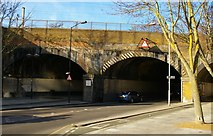 TQ3185 : Railway bridge over Hornsey Road by Christopher Hilton