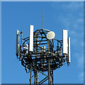 TG4600 : Communications mast beside New Road (detail) by Evelyn Simak