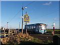 SE2117 : Bus stop, Whitley Road, Whitley Lower by Stephen Craven