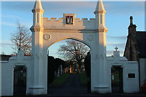NS3421 : Entrance to Ayr Cemetery by Billy McCrorie