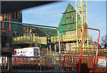 NS3975 : Construction on Dumbarton Burgh Hall site by Thomas Nugent