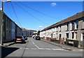 SN5100 : Wires over Upper Cross Road, Llanelli by Jaggery