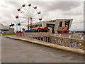 SJ3390 : Ferris Wheel at Liverpool Pier Head Ferry Terminal by David Dixon