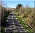 SN5100 : A484 on the northwest side of a footbridge, Llanelli by Jaggery