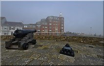 TR3752 : Deal Castle: Seaward facing bastion with 1800 cannon by Michael Garlick