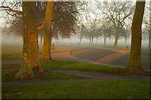 TQ3187 : Dusk in Finsbury Park, North London by Julian Osley