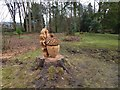 NS3982 : Chainsaw art in Balloch Park by Lairich Rig