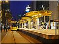 SJ8398 : Metrolink Stop at Exchange Square by David Dixon