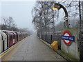 TQ4592 : A foggy morning at Grange Hill station by Marathon