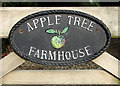 TG2909 : Name plate at the entrance to Appletree Farmhouse by Evelyn Simak