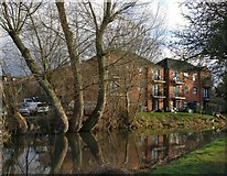 SK5802 : Riverview Court next to the River Soar by Mat Fascione