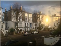 TQ2785 : Blinding reflection, Upper Park Road, Belsize Park by Kate Jewell