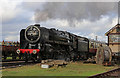 SK5415 : Quorn & Woodhouse Station - Oliver Cromwell heading south by Chris Allen