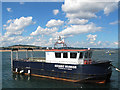 SX9880 : The Oceanic Warrior moored near Starcross by Stephen Craven