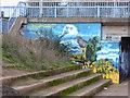 SX9192 : Street art/graffiti - Exe Bridges abutment by Chris Allen