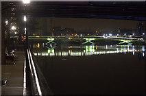 TQ3780 : West India Dock footbridge by Robert Eva