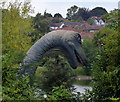 TL0702 : Dinosaur next to the Grand Union Canal in Kings Langley by Mat Fascione