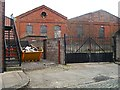 NY4155 : Old engine shed behind Lindisfarne Street (2) by Rose and Trev Clough