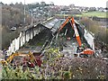 NY4154 : Upperby carriage sheds - demolition in progress by Rose and Trev Clough