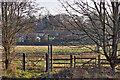 NZ3529 : Public Footpath sign and kissing gate by Mick Garratt