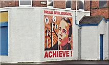 J3574 : Mural, Susan Street, Belfast (January 2017) by Albert Bridge