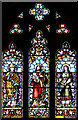 TQ2772 : Holy Trinity, Upper Tooting - Stained glass window by John Salmon