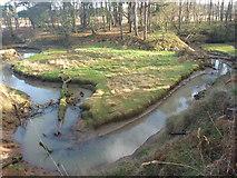 NT6378 : East Lothian Geomorphology : Hairpin Bend, Hedderwick Burn by Richard West