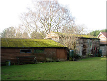 TG2909 : Farm buildings with weatherboarding by Evelyn Simak