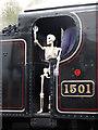 SO7192 : Severn Valley Railway - Skeleton staff! by Chris Allen