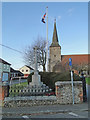 TL8840 : The repaired War Memorial at Great Cornard by Adrian S Pye
