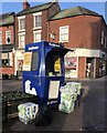 SJ8545 : Newcastle-under-Lyme: world's smallest newspaper kiosk by Jonathan Hutchins