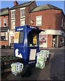 SJ8545 : Newcastle-under-Lyme: world's smallest newspaper kiosk by Jonathan Hutchins