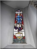 TQ0044 : Holy Trinity, Bramley: stained glass window (j) by Basher Eyre
