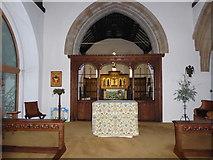 TQ0044 : Inside Holy Trinity, Bramley (XIX) by Basher Eyre