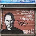 TQ3276 : Steve Jobs portrait graffito, Denmark Hill, Camberwell, south London by Robin Stott