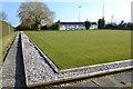SX9677 : Bowling green and pavilion, Marina Bowling Club, Sandy Lane, north Dawlish by Robin Stott