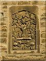 NT2472 : Heraldic carving on a Fountainbridge tenement by M J Richardson