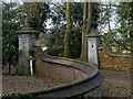 SK7714 : East gate to Little Dalby Hall by Alan Murray-Rust