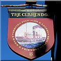 SJ5183 : The Clarendon pub name sign, Runcorn by Jaggery