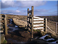 SK0789 : Gate on Kinder Scout by Stephen Burton