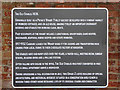 SJ6932 : New information plaque at Tyrley Wharf, Staffordshire by Roger  Kidd