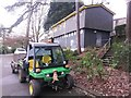 SZ0891 : Bournemouth: Parks compound under the Yellow Buses enquiry office by Chris Downer