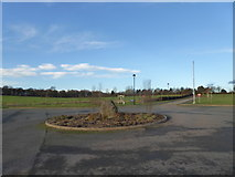 SJ8145 : Keele Cemetery roundabout by Jonathan Hutchins