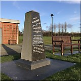 SJ8145 : Keele Cemetery memorial to body donors by Jonathan Hutchins