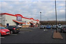 NS2742 : A retail park in Stevenston by Alan Reid