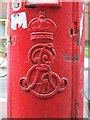 TQ3388 : Edward VII postbox, Seven Sisters Road, N15 - royal cipher by Mike Quinn