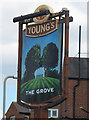 SX9980 : Sign for the Grove  by Stephen Craven